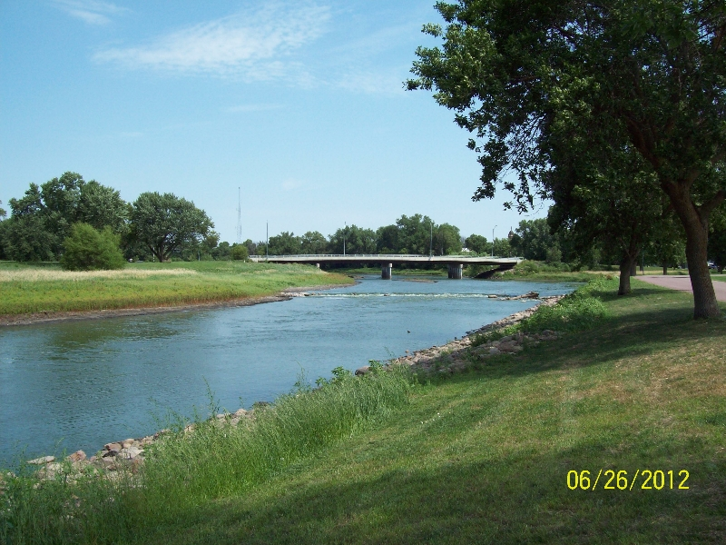 The Des Moines River in Island Park