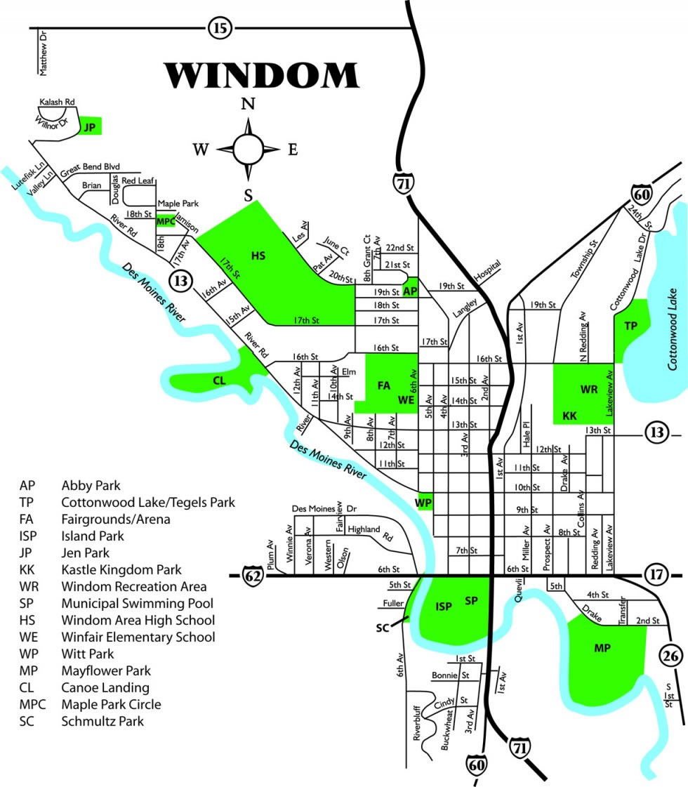 Map of Windom Parks